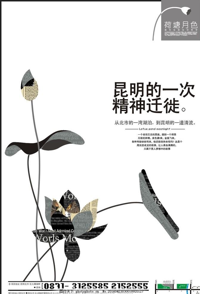 书籍封面 花卉 手绘 海报设计 封面设计 单页设计 黑白 设计 广告设计
