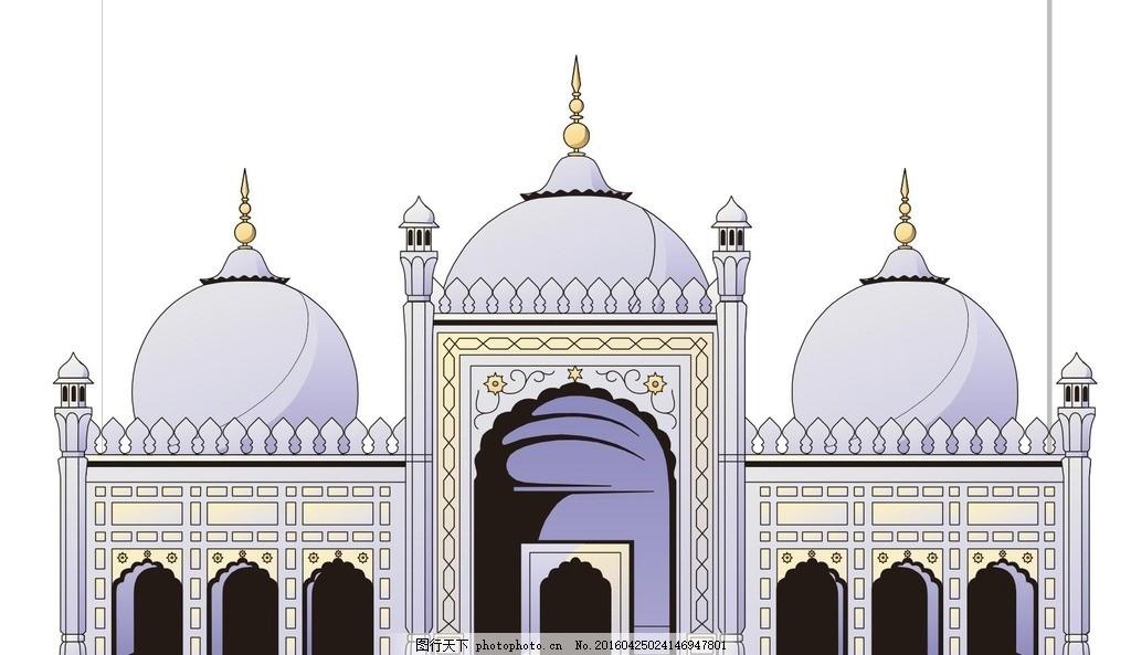 伊斯兰寺庙 清真大寺 宗教寺庙 回族 穆斯林 中国建筑 古建筑图片