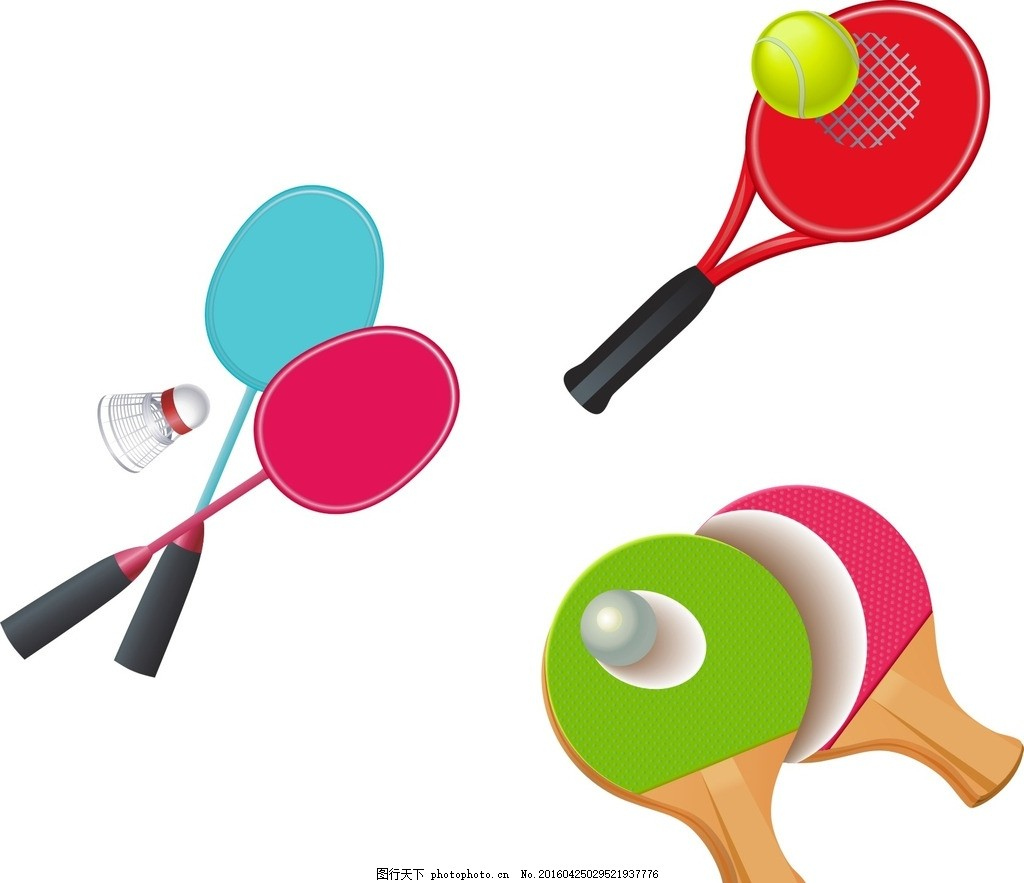 羽毛球 乒乓球 卡通素材 可爱 手绘素材 儿童素材 幼儿园素材