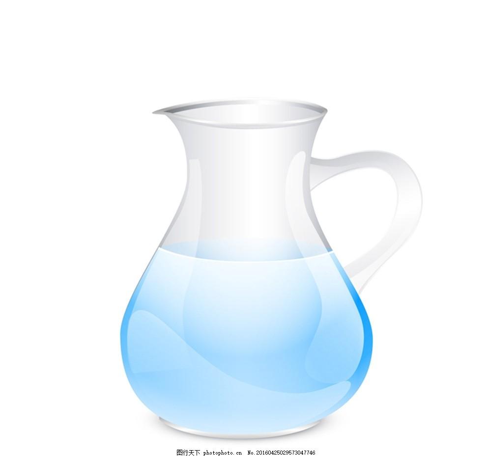 透明玻璃水壶矢量素材 玻璃 水壶 容器 水 矢量图 创意设计 设计 广告