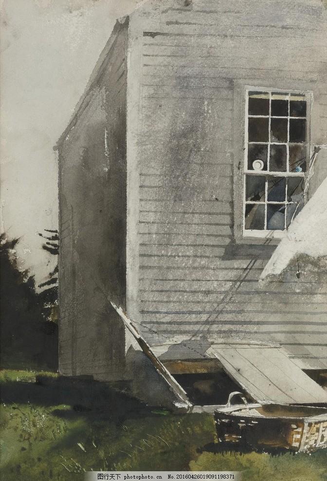 高清风景油画 安德鲁怀斯 高清油画 壁纸打印 仿真画打印 装饰画 高清