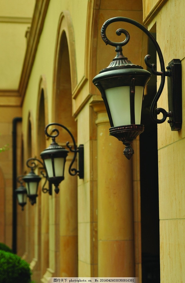 绿城 花园洋房 壁灯 建筑 门拱 门洞 欧式 别墅 摄影 建筑园林 园林