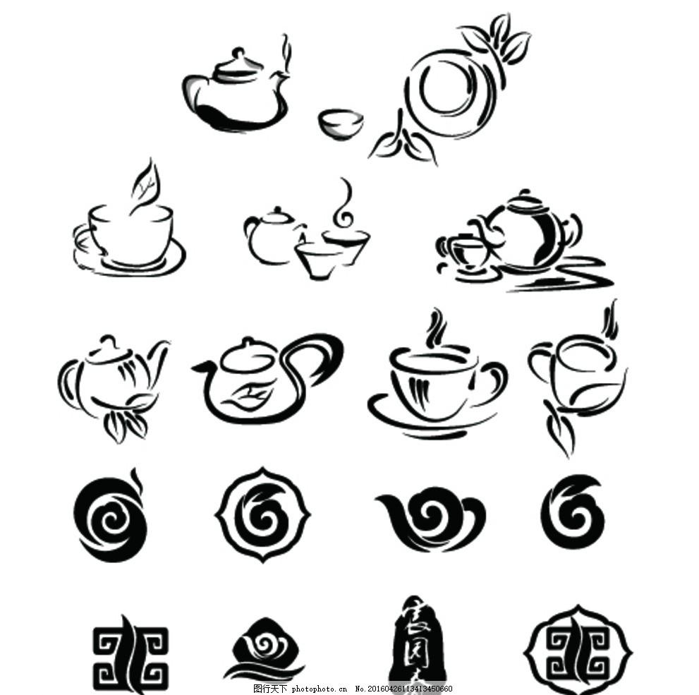 茶具 清新 饮茶时间 茶壶 下午茶 蛋糕 糕点 甜甜圈 茶包 甜点