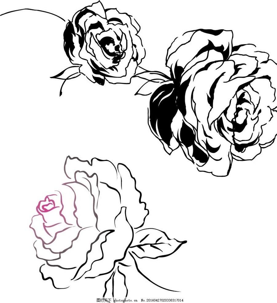精美花朵 矢量素材 水彩 广告设计 花边 花纹花朵