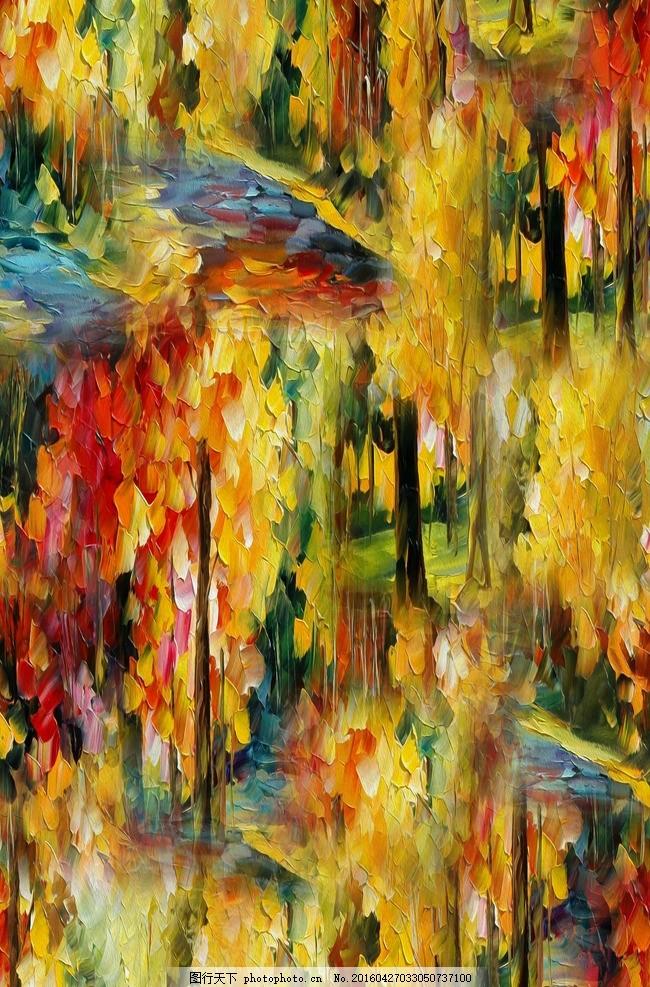 欧式油画拼图(分层) 欧式油画拼图分层 景 衣服图案 数码印花