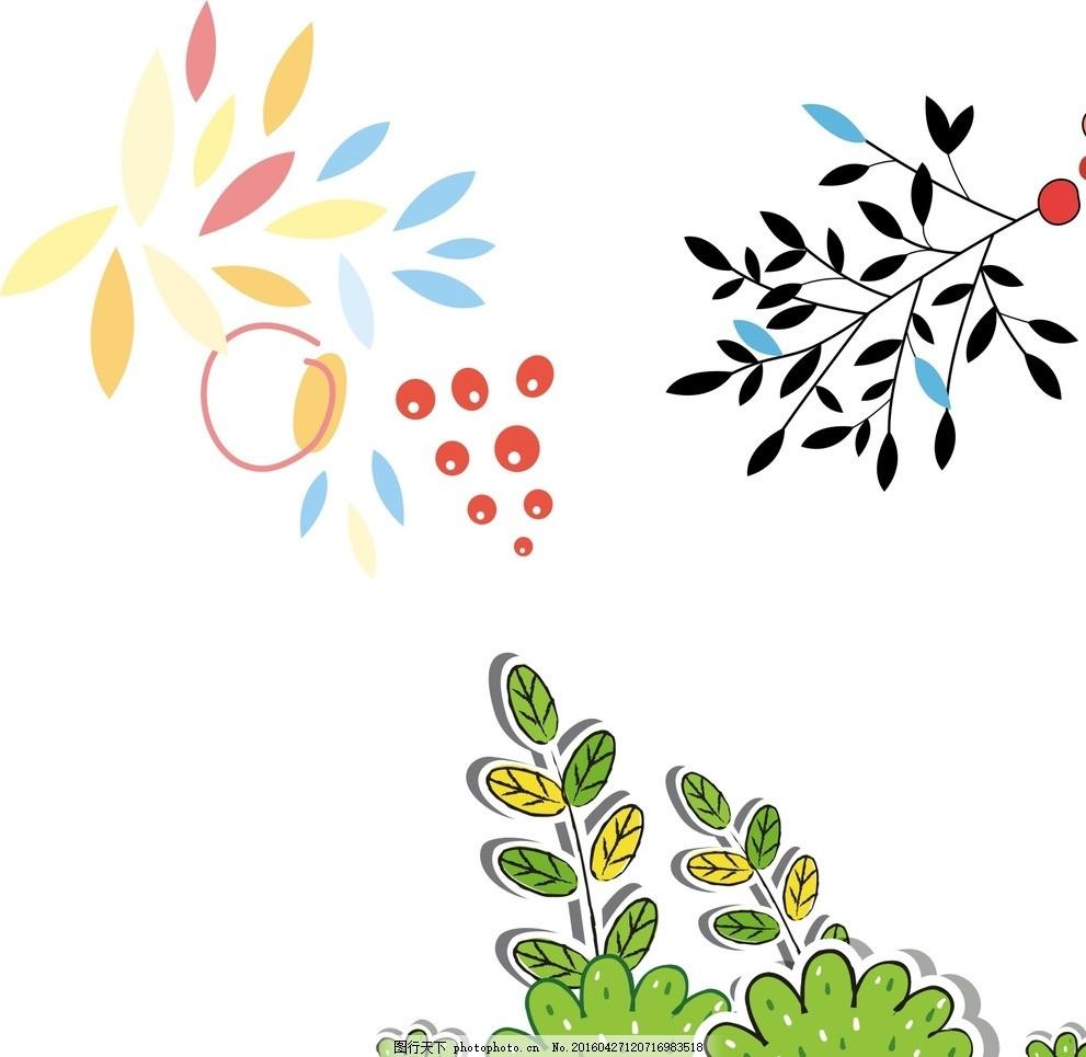 树叶插画 树叶 手绘树叶 唯美树叶 树叶素材 矢量树叶素材 飞舞的树叶