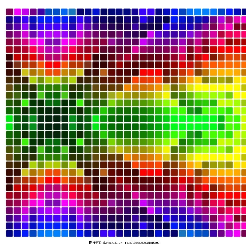 彩色格子 彩色方格背景 马赛克背景 方块背景 彩色 马赛克 方格 格子