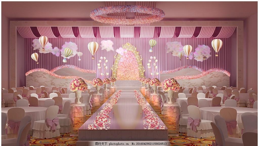 婚礼场景布置 迎宾区 宴会区效果图 照片墙 婚纱 婚庆道具 欧式婚礼
