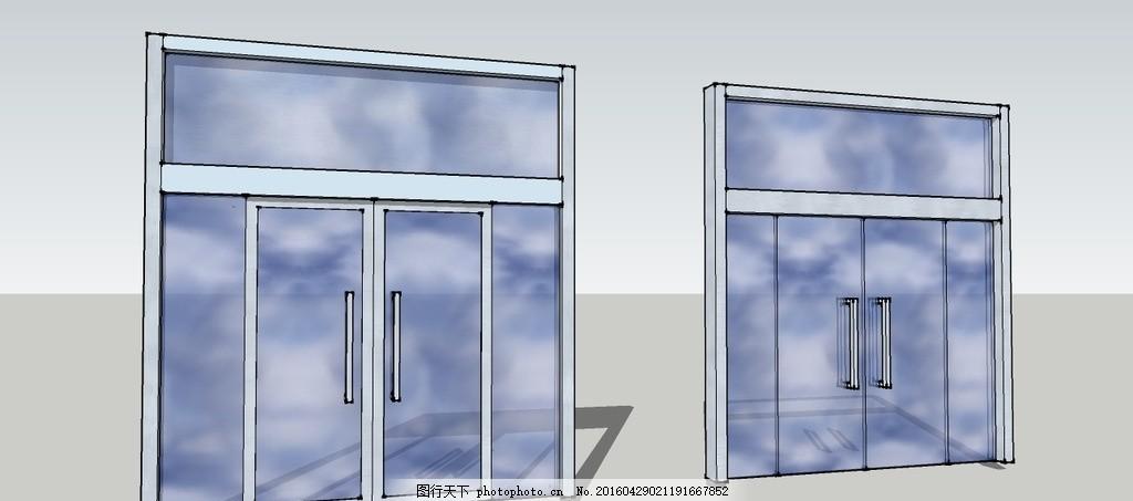 两种双开玻璃门内附cad尺寸颜色cad层黑色全部成的图设置图片图片