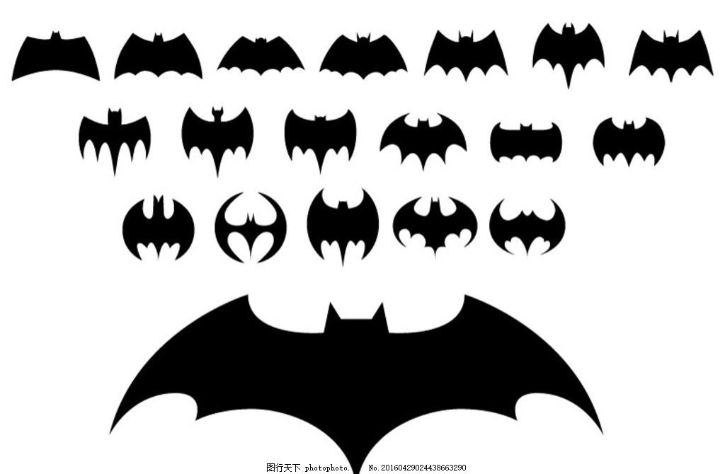 蝙蝠侠标志 动物 剪影 图标 插画 背景 海报 画册 矢量动物