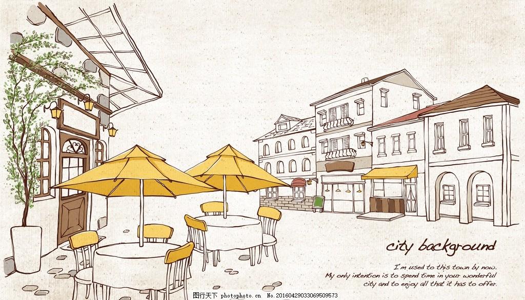 手绘咖啡厅