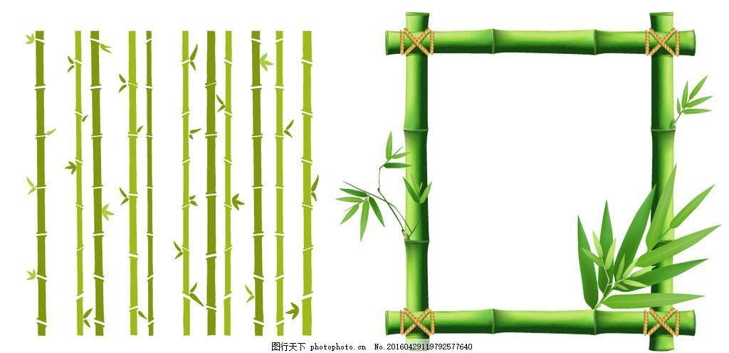 竹子吊挂 竹子矢量素材 清明节 端午节 翠竹 翠绿的竹子 端午节素材