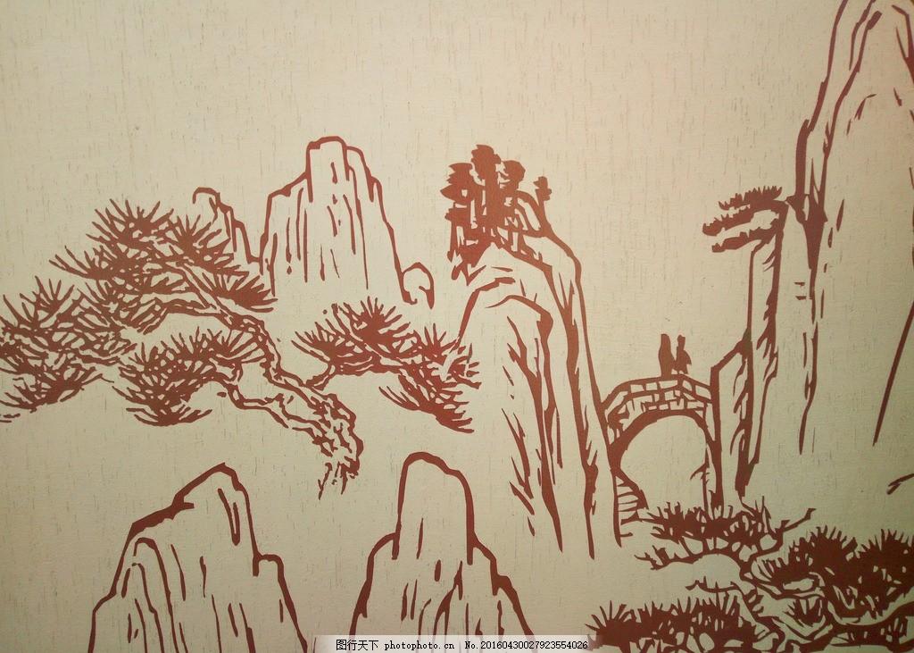 中国风园林手绘