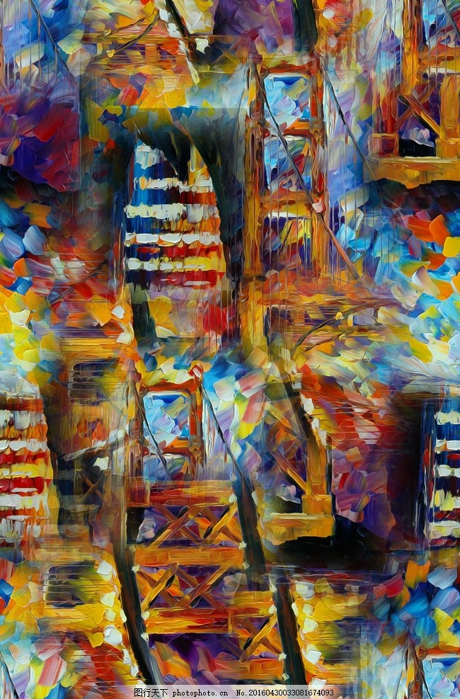 油画 欧式油画 森林风景 油画印花 风景 山水画 山水图案 装饰画 高清