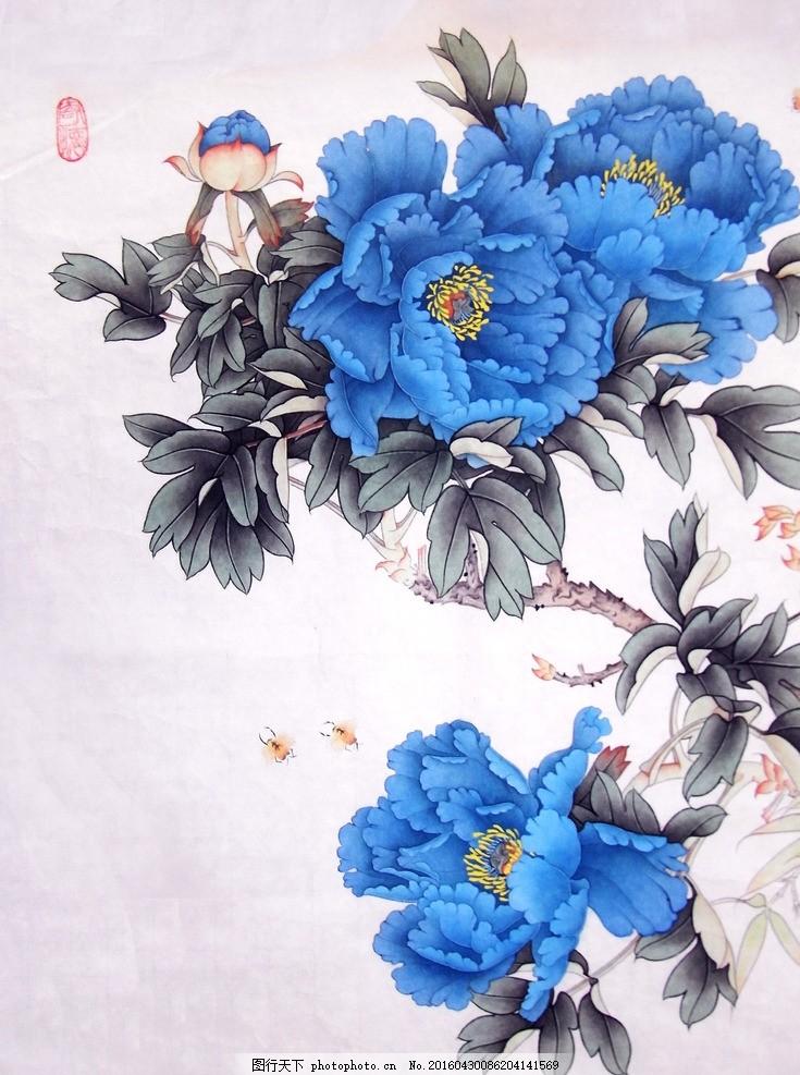 古风花朵素材 花卉 油墨 花型 图案素材 文化艺术 绘画书法