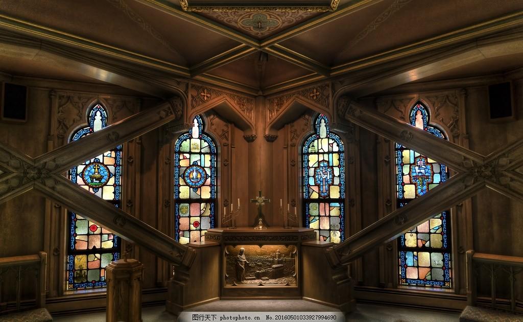教堂内部 光线 阴暗 教堂内景 祷告 欧式建筑 摄影 国外旅游
