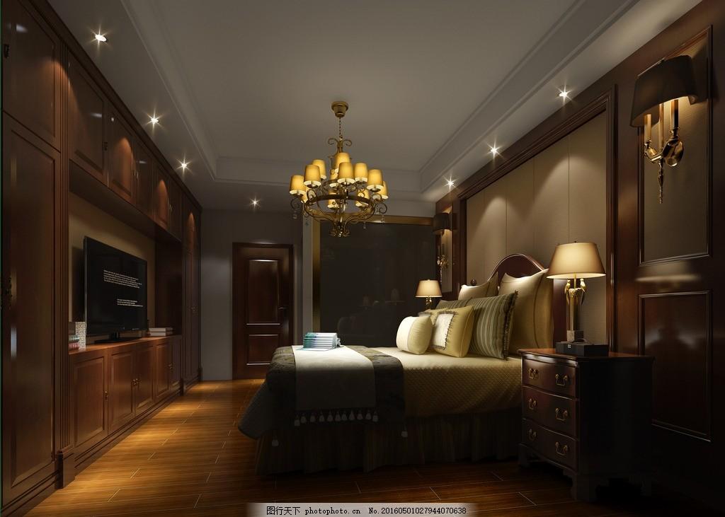 卧室欧式 主卧 背景墙 衣柜效果 效果图图片