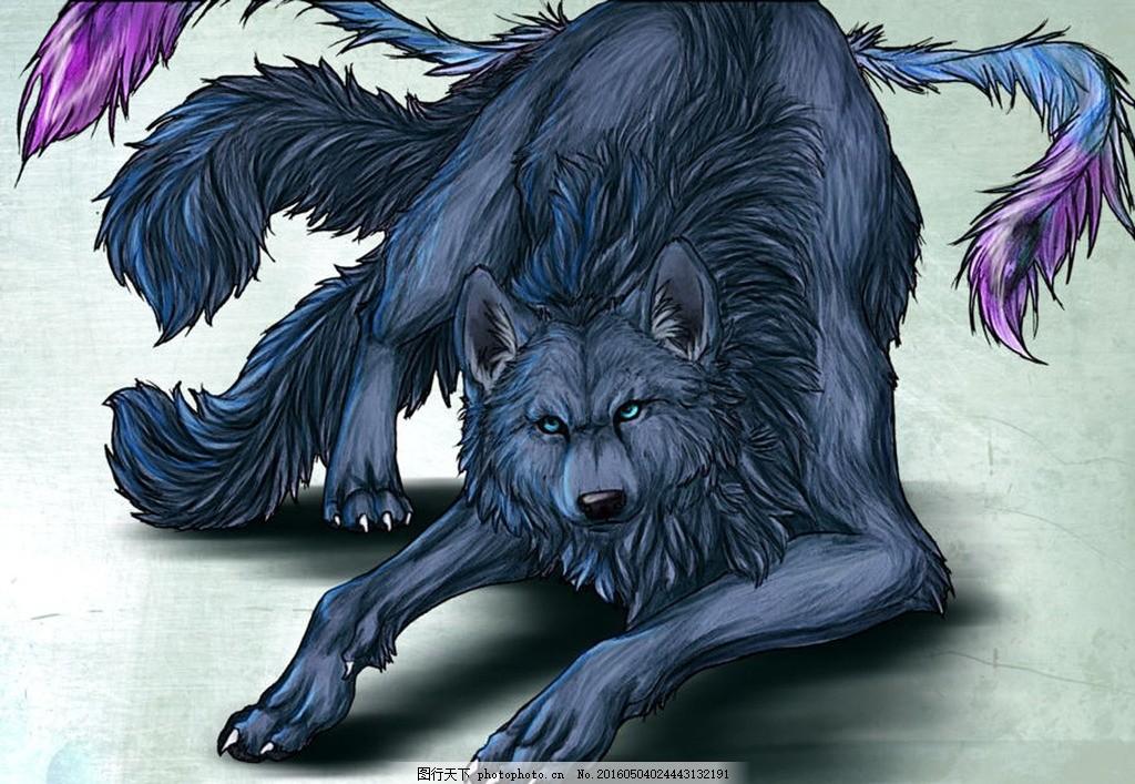 梦幻的狼族 摄影 水彩画 羽毛 动物世界