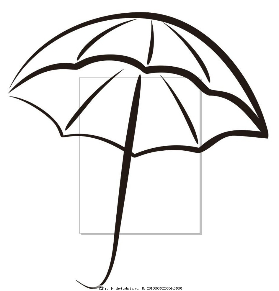 雨伞 伞 简单画 线条 线描 简笔画 黑白画 卡通 手绘 标志图标 简单