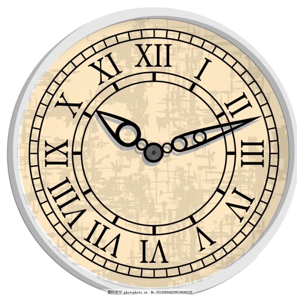 童时钟手工制作立体