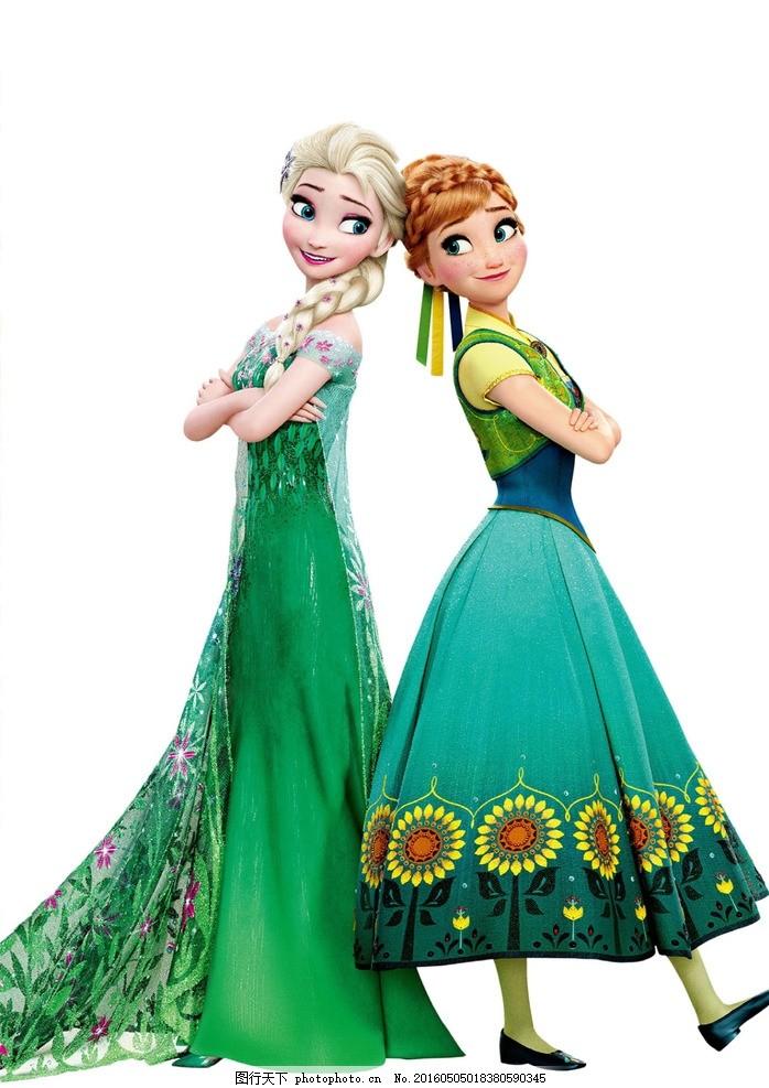 冰雪公主 冰雪奇缘 驯鹿 迪士尼 雪人 艾莎女王 爱莎 安娜 雪宝