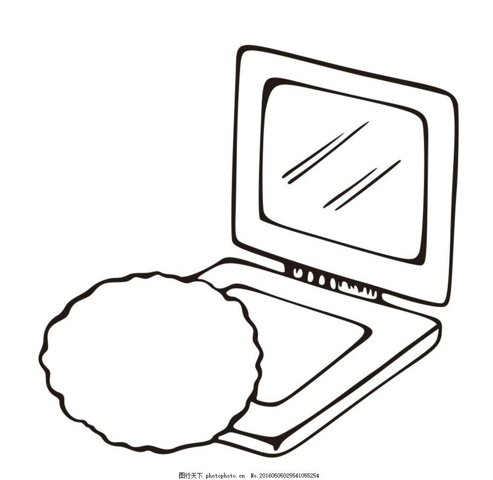 化妆盒子 小镜子 简单画 线条 线描 简笔画 黑白画 卡通 手绘 标志
