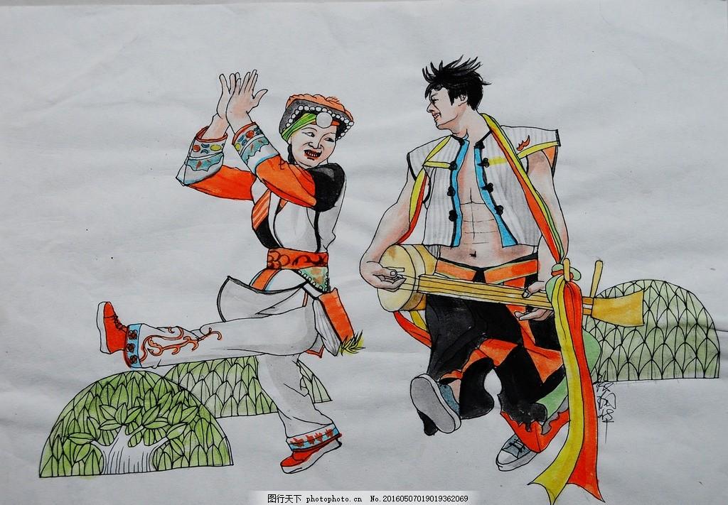 民族风情,人物,泼水节 民族习惯 节日,民族风情0113