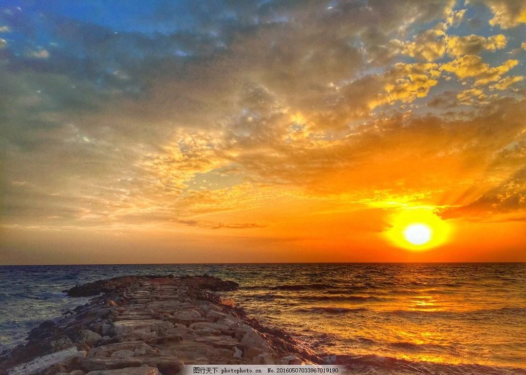 秦皇岛大海 唯美 风景 风光 旅行 自然 夕阳 落日 日落 黄昏
