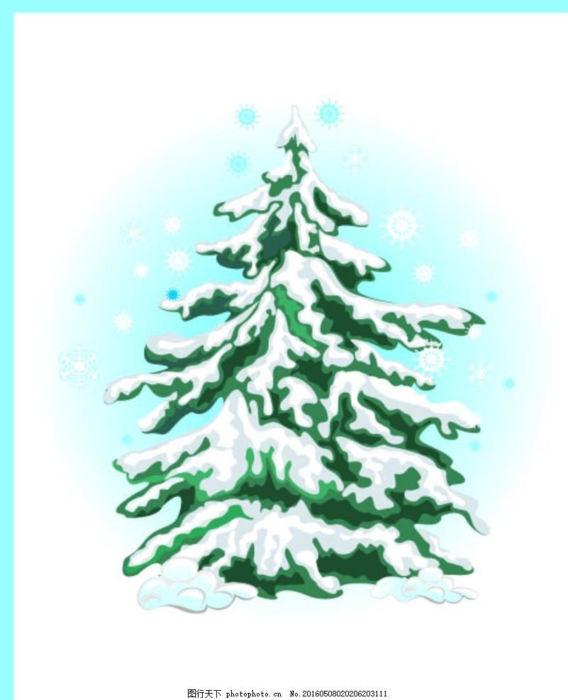 圣诞树 矢量 建筑 风景 服装 印花 素材 背景 线条 潮流 时尚 花纹