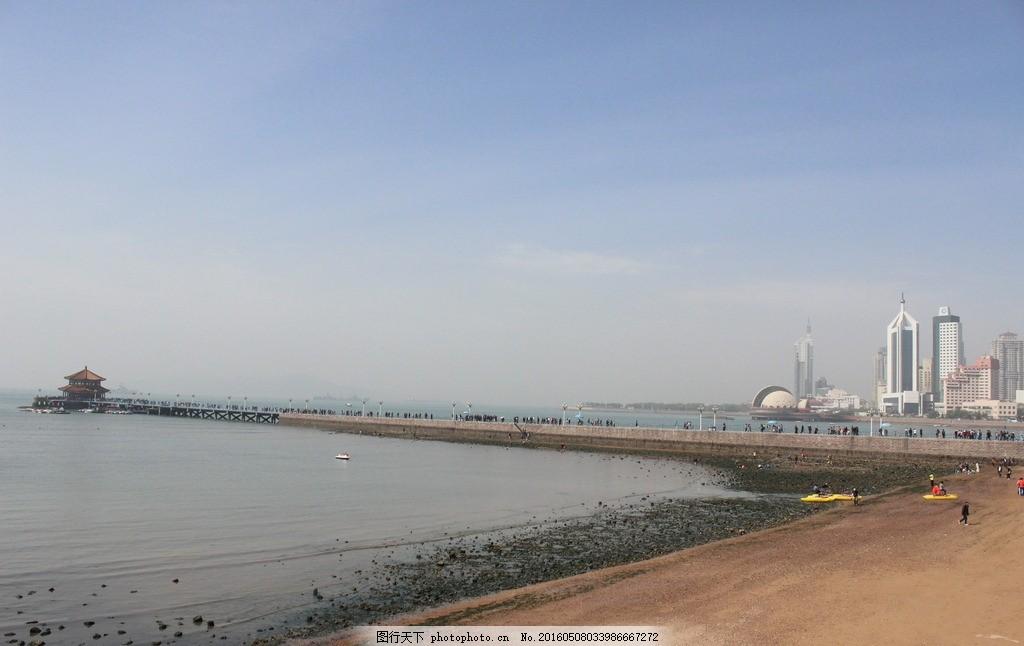 青岛栈桥 山东 海边 栈桥海边 古建筑 摄影 国内旅游
