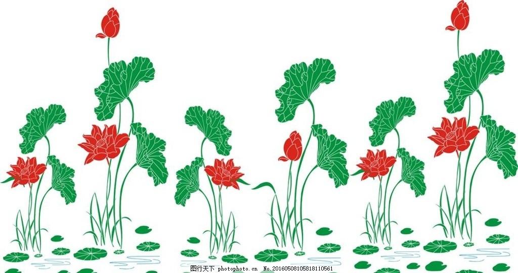 荷花 硅藻泥 电视背景墙 荷叶 鲜花 广告设计