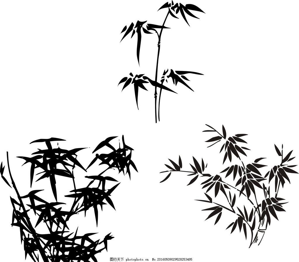 手绘图片简单竹子