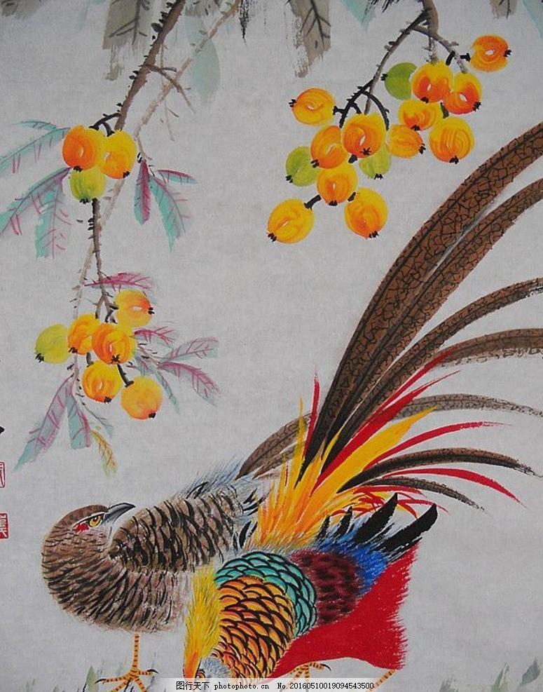 工笔荷花 工笔花鸟 工笔画 工笔画素材 工笔画欣赏 国画 蝴蝶 红牡丹