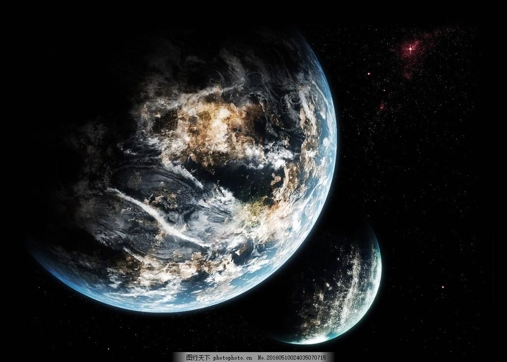 创意 个性 星空 太空 星星 星球 陆地 黑色 设计 自然景观 自然风光