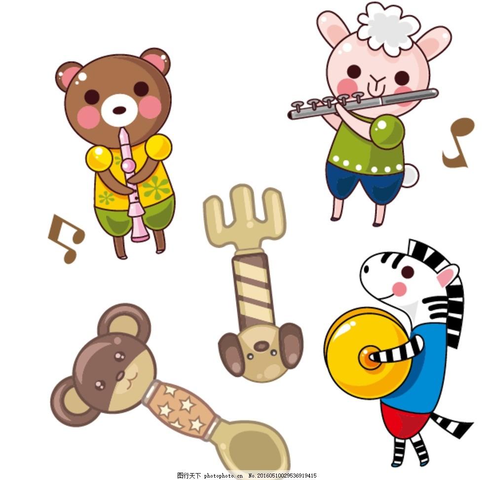 卡通动物乐队 儿童勺子