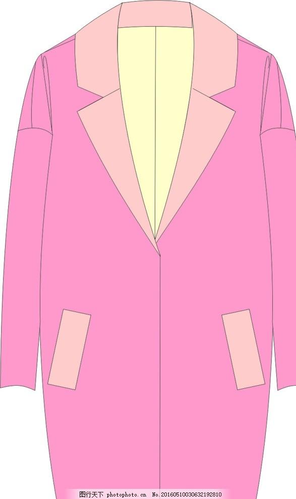 冬季毛呢外套 西装领外套女 冬季大衣 大衣款式图 大衣效果图 服装