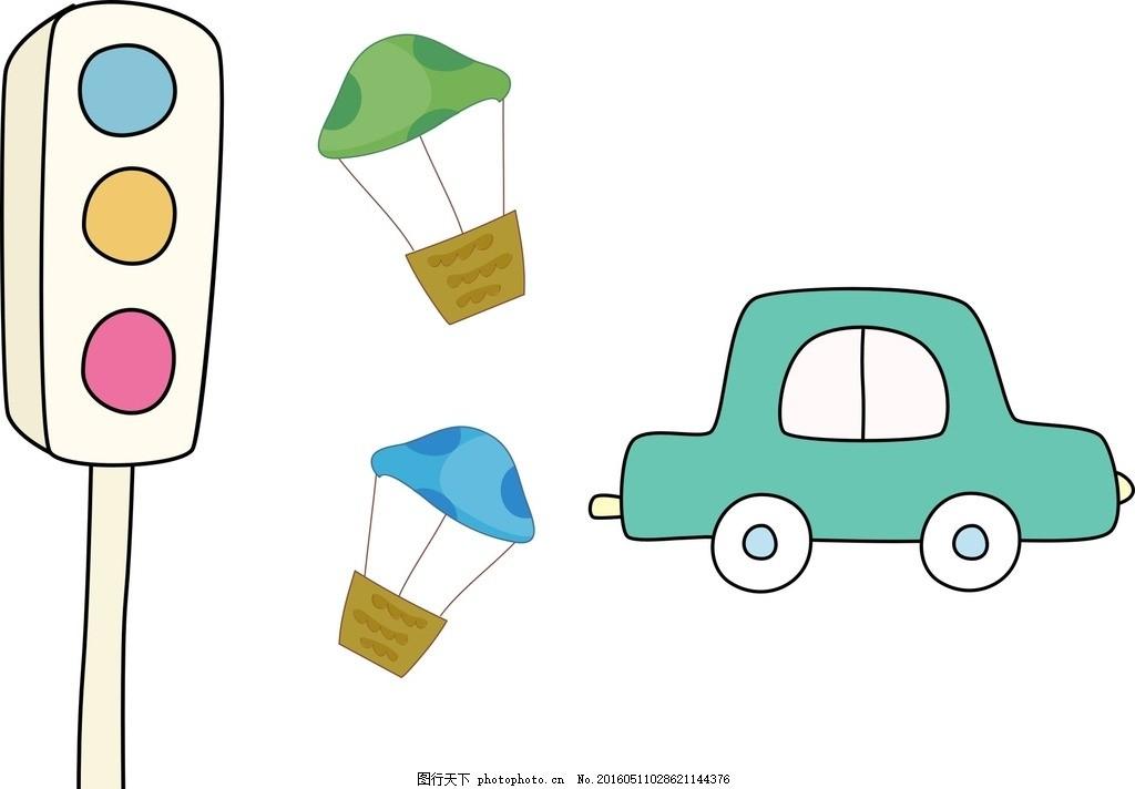 热气球 卡通热气球 矢量热气球 热气球素材 简笔画素材 简笔画 儿童简