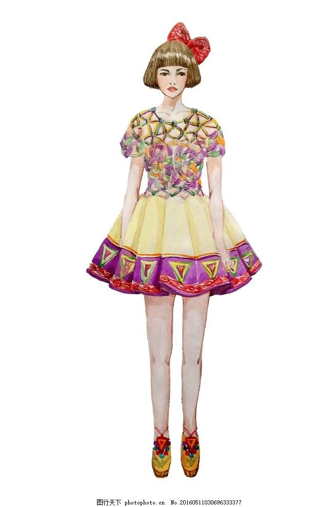 民族风结合的服装设计