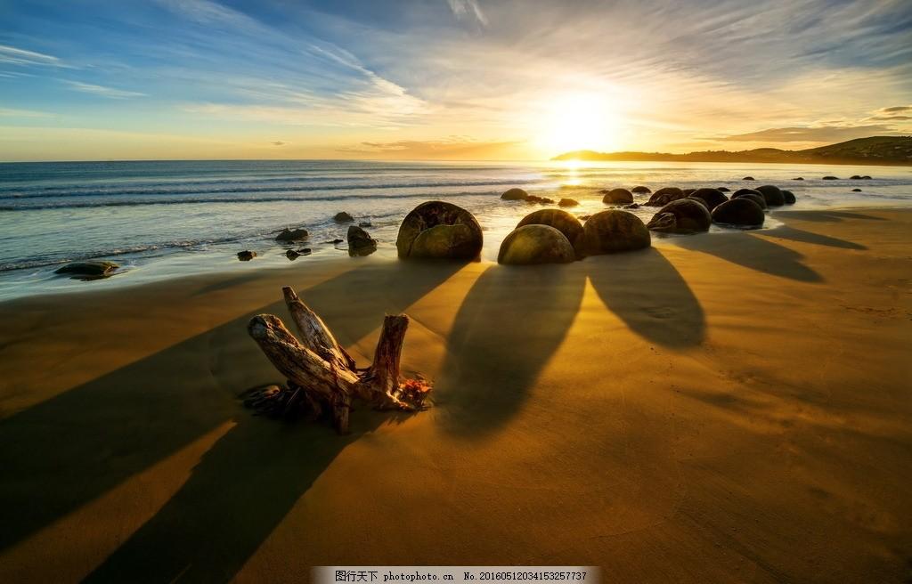 海边日出 日出 大场景 山 唯美 风景 美丽景色 云海 朝霞 晚霞 奇观