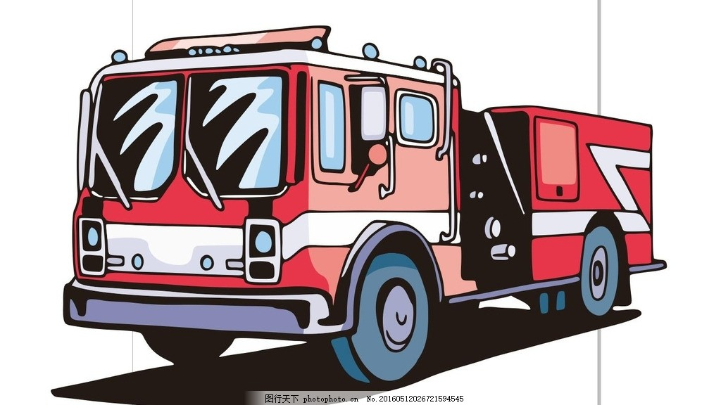 消防工具简笔画步骤