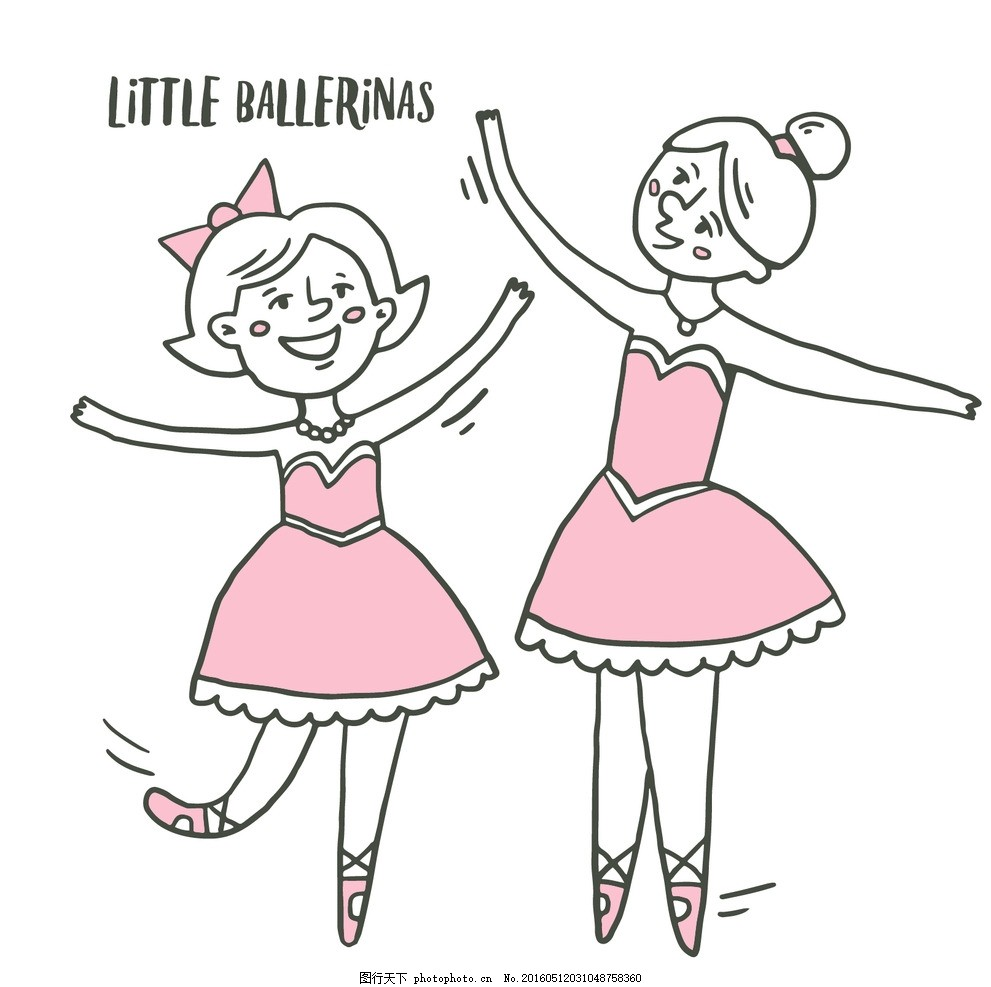 素描的小芭蕾舞演员图片