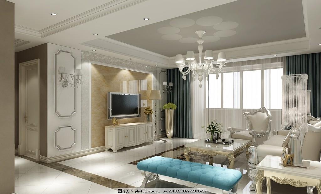 欧式装修 欧式效果图 装修 电视背景墙 吊顶 简欧 设计 环境设计 室内
