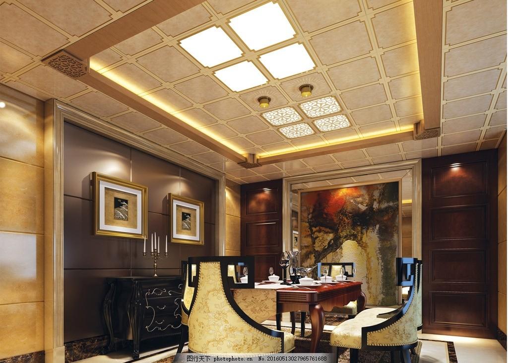 美尔凯特餐厅 美尔凯特 餐厅 椅子 欧式风格 茶具 餐桌 柜子 led灯