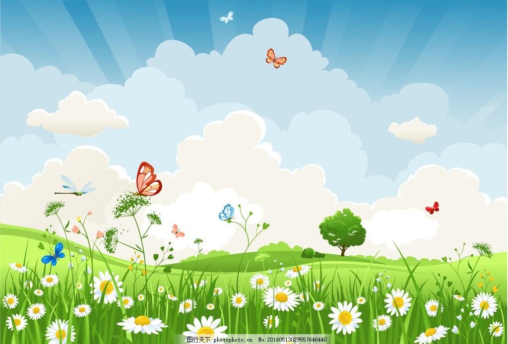 光芒 光线 光效 鸟 插画 背景 海报 画册 风景建筑 春天 郊游 春游