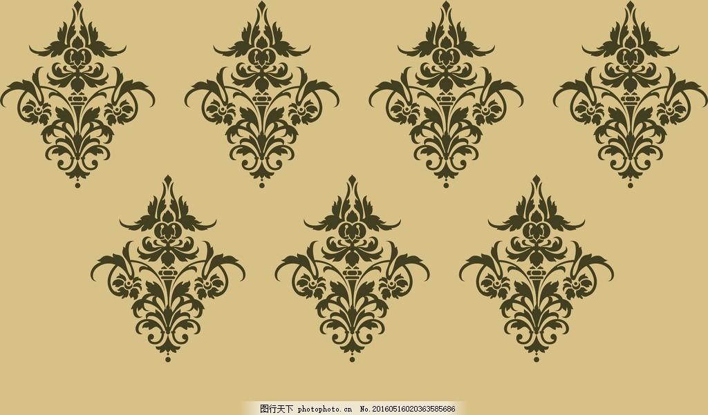 硅藻泥图案 硅藻泥壁纸 展板图案 硅藻泥花型 底纹边框 花边花纹 设计
