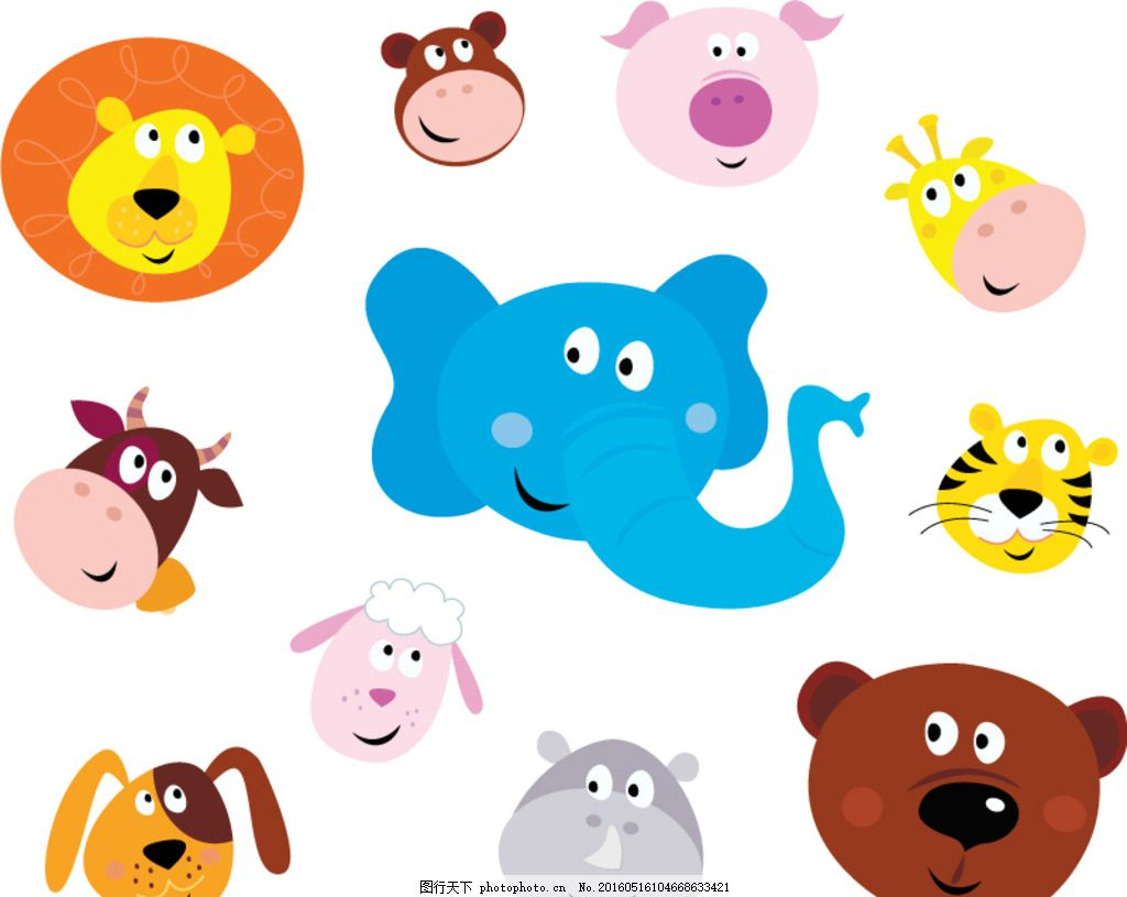 可爱 森林 森林动物 动物园 可爱卡通 可爱动物 卡通动物园 卡通设计