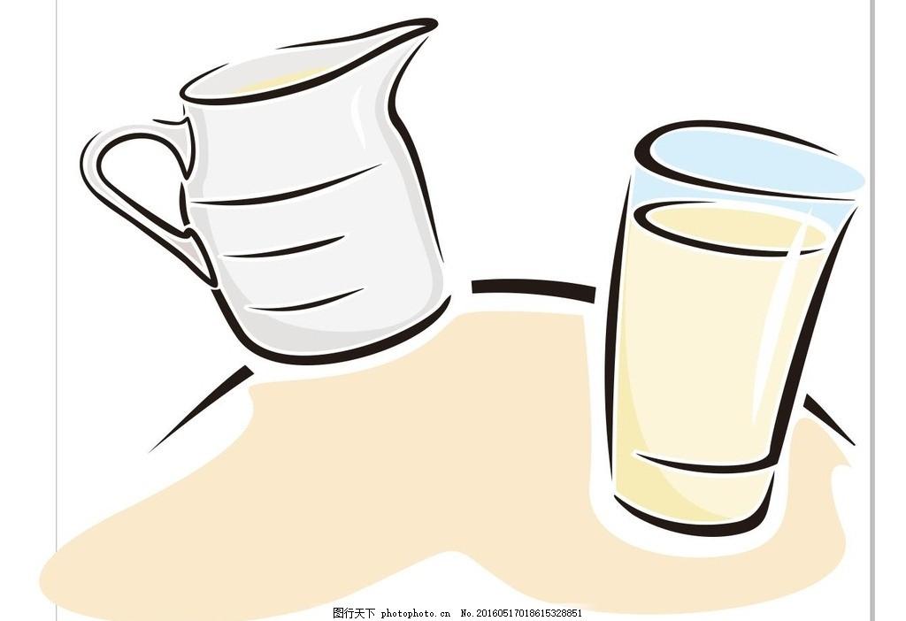 瓶子 容器 杯子 简笔画 线条 线描 简画 黑白画 卡通 手绘