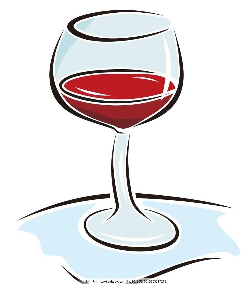 杯子 高脚杯 简笔画 线条 线描 简画 黑白画 卡通 手绘 标志图标 简单