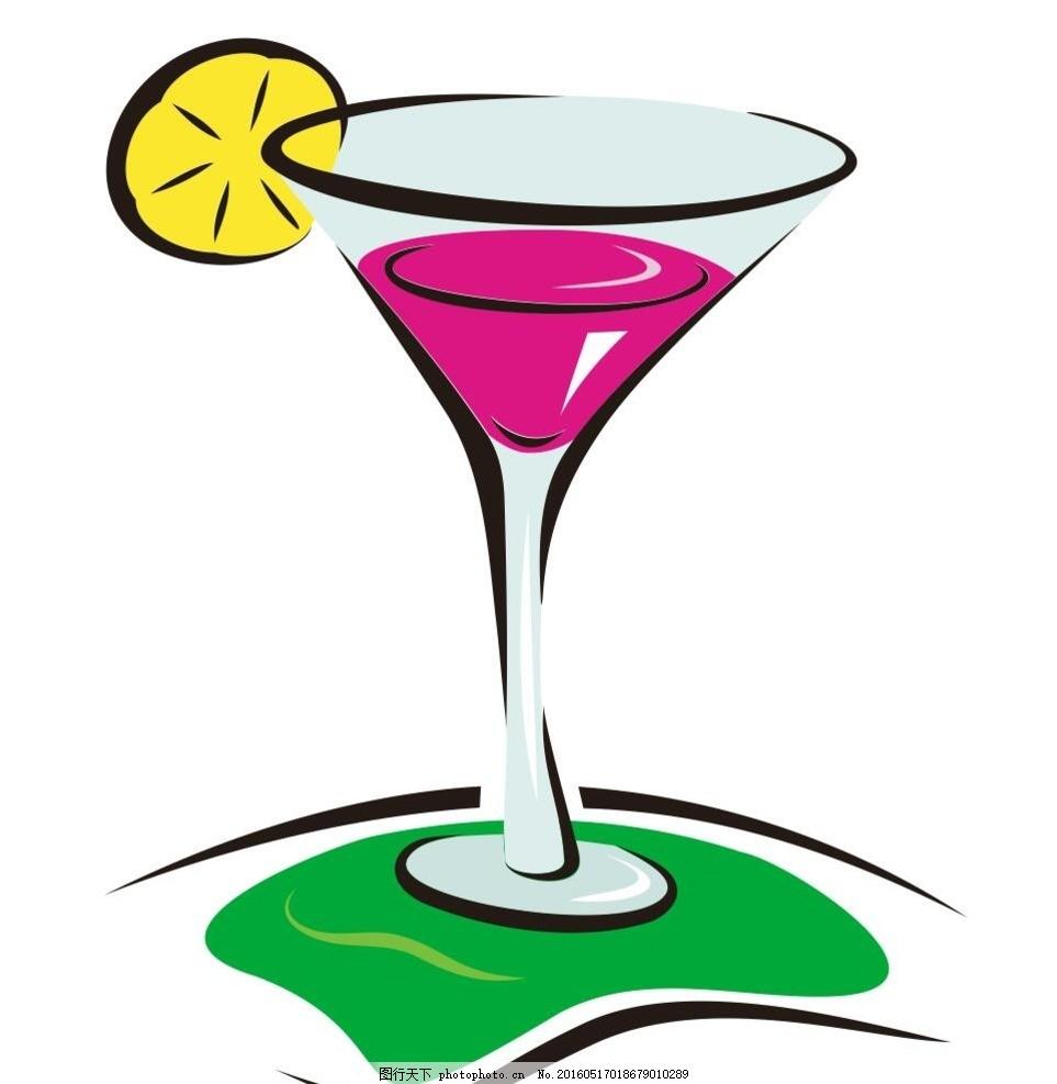 柠檬水 柠檬 饮料 餐饮 高脚杯 简笔画 线条 线描 简画 黑白画 卡通