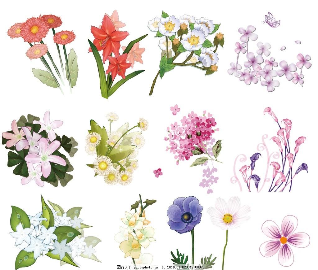手绘花型 花卉图案 纺织品 衣服图案 花型 数码印花图案 服装图案
